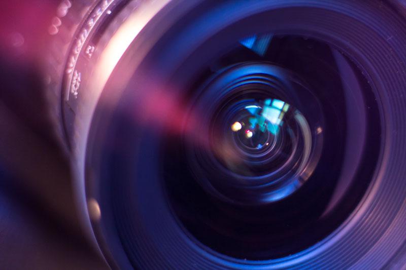 Wideangle macro shot of lens