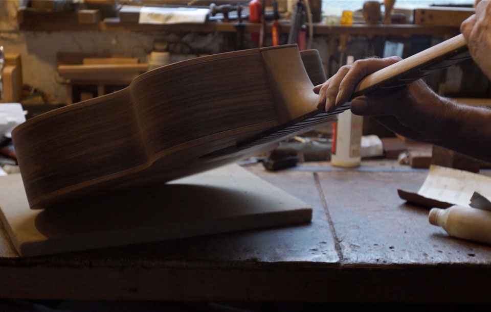 Jonny Kinkade luthier documentary film for the International Wood Culture Society (IWCS)